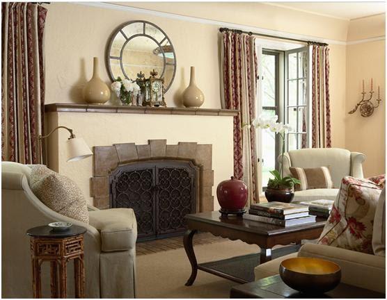 Decora y disena salas en color beige for Disenos para decorar paredes de salas