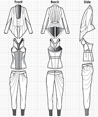 how to draw designs on clothes