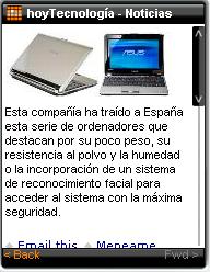 hoyTecnología: – noticias de informática, operadores de telefonía, Internet e innovación in your mobile phone