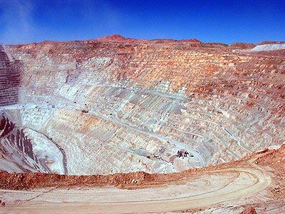 mines de cuivre de Chuquicamata près de Calama.