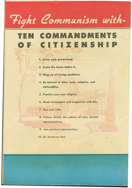 anti communism in the 1950s A careful reading of the act, however, indicates that the reality was a bit fuzzier in 1950, congress passed the internal security act in many respects, it was merely a version of the communist.