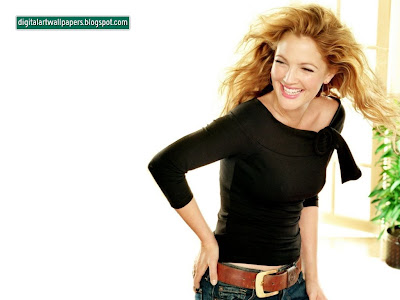 Drew Barrymore - Free PC Desktop Wallpaper