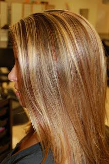 Blond highlights with red lowlights | Lorin Van Zandt. Hair Artist.