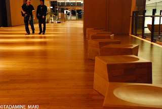 Wooden chairs and floor, at Mid-town in Roppongi