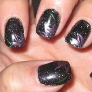 trendy fashion simple dark nail art ideas