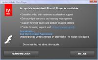 Adobe Flash Player Update PopUp Window