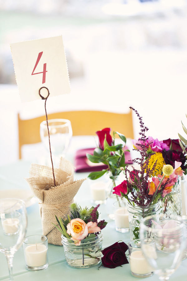 hand sewn wedding programs fabric backed table numbers