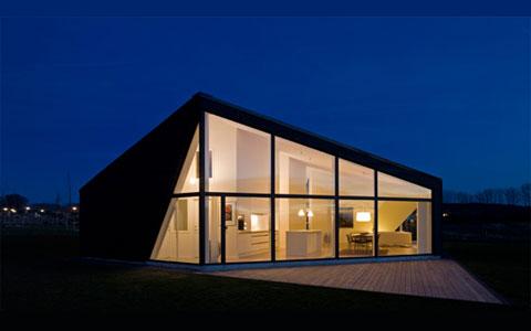 Modern architecture for Scandinavian modern house