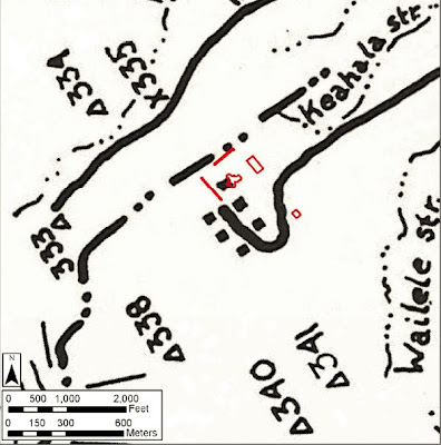 Map of archaelogical sites near the project site