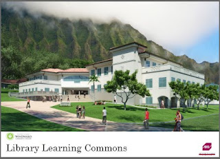 Artistic rendering of the new Library Learning Commons Building