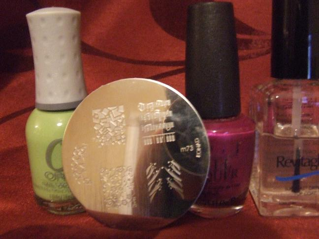 OPI Nail Envy, Orly Green Apple, OPI Plugged in Plum,