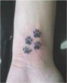 tattoo, tatuagens patas de cachorro