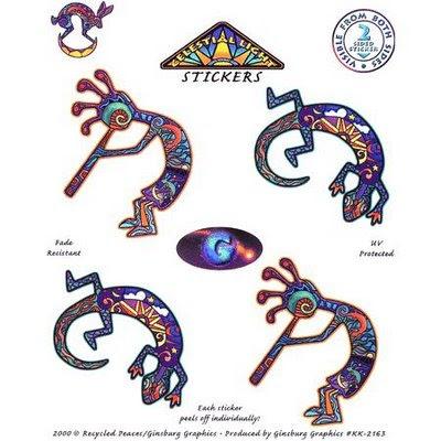Tatuagem de Kokopelli com fortes motivos incas