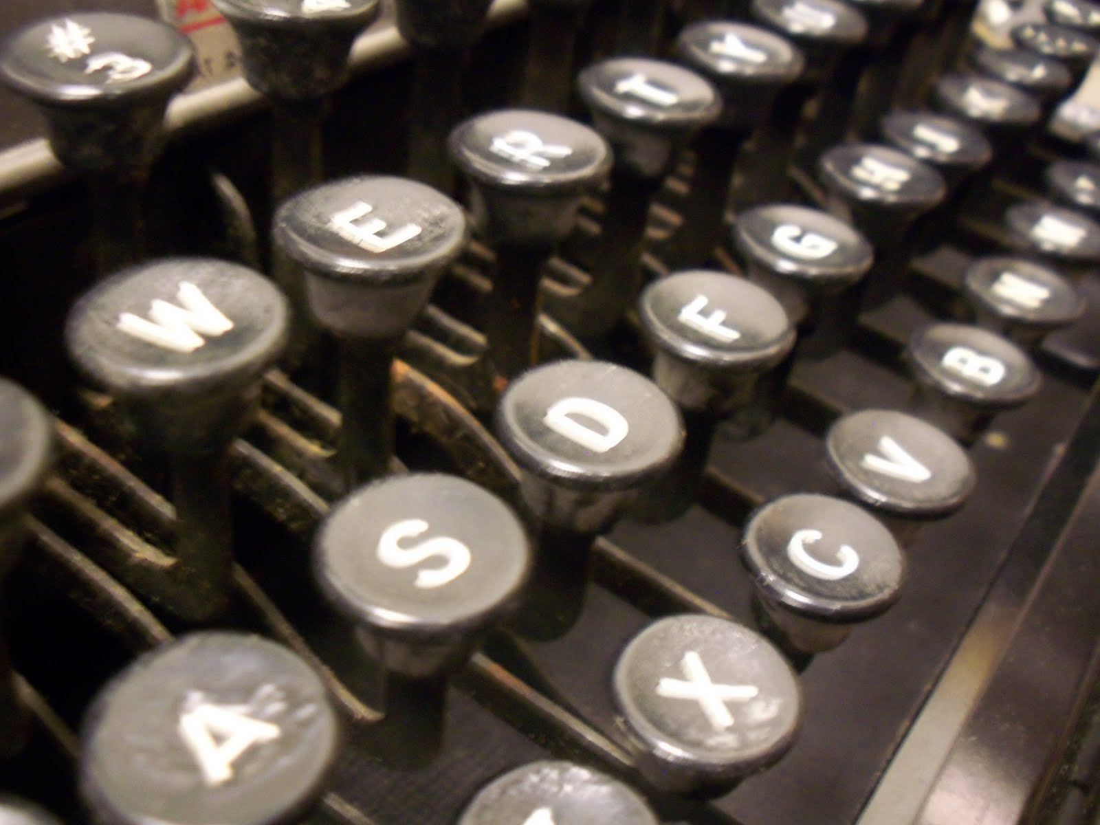 Old typewriter keyboard