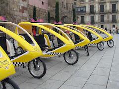 Los ecologicos bici taxis