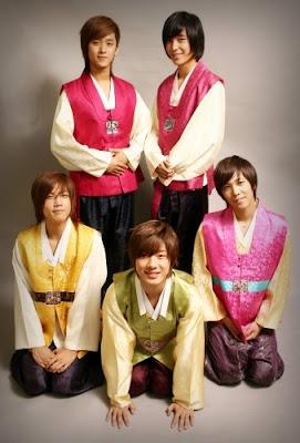 hanbok + stars in hanbok (its my bonus^^) Chuseok_FTIsland_hanbok