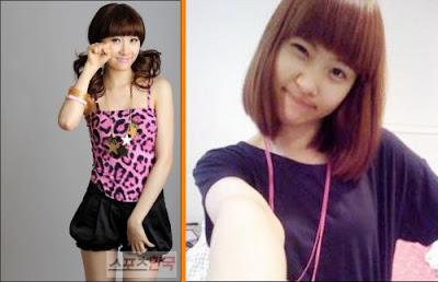 sun mi of wondergirls has short hair · kpopped