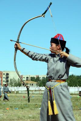 L'épreuve du tir à l'arc est ouverte aux femmes