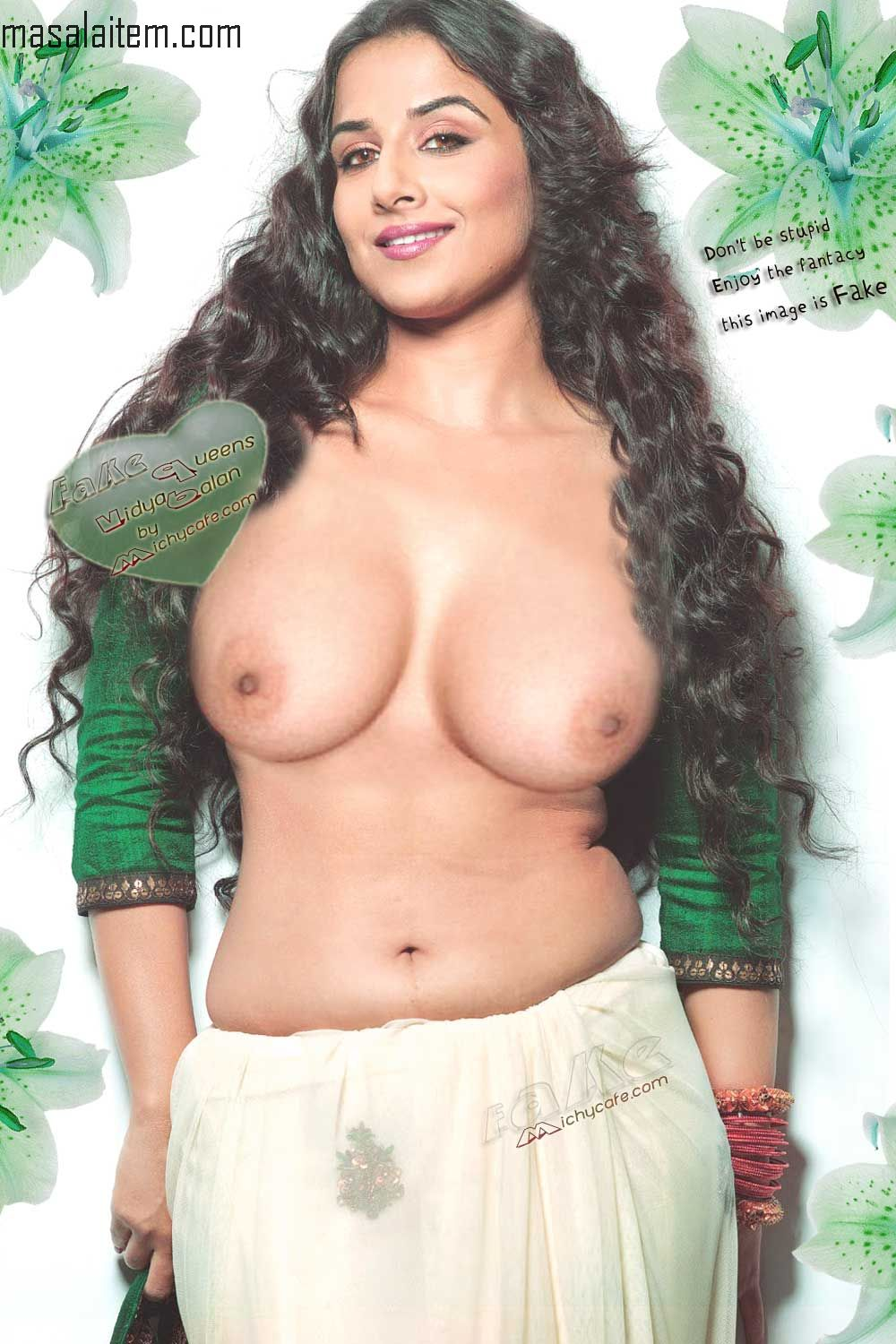 Imagine how Vidya Balan's naked breasts would look in your fantasy.