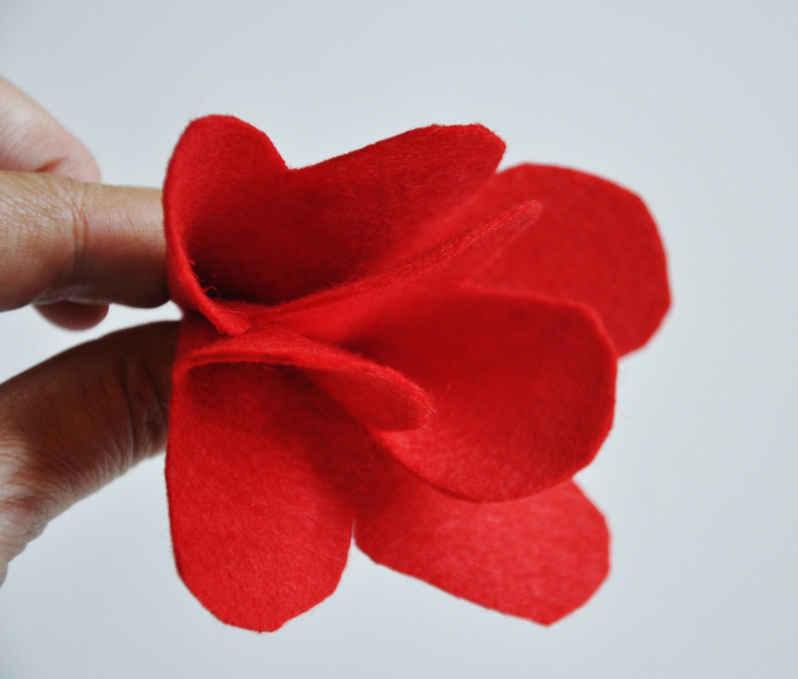 Цветы из фетра на шапку своими руками 63