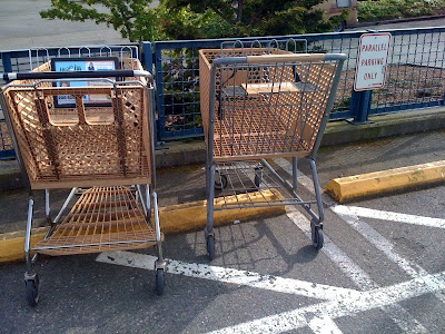 Poorly parked carts