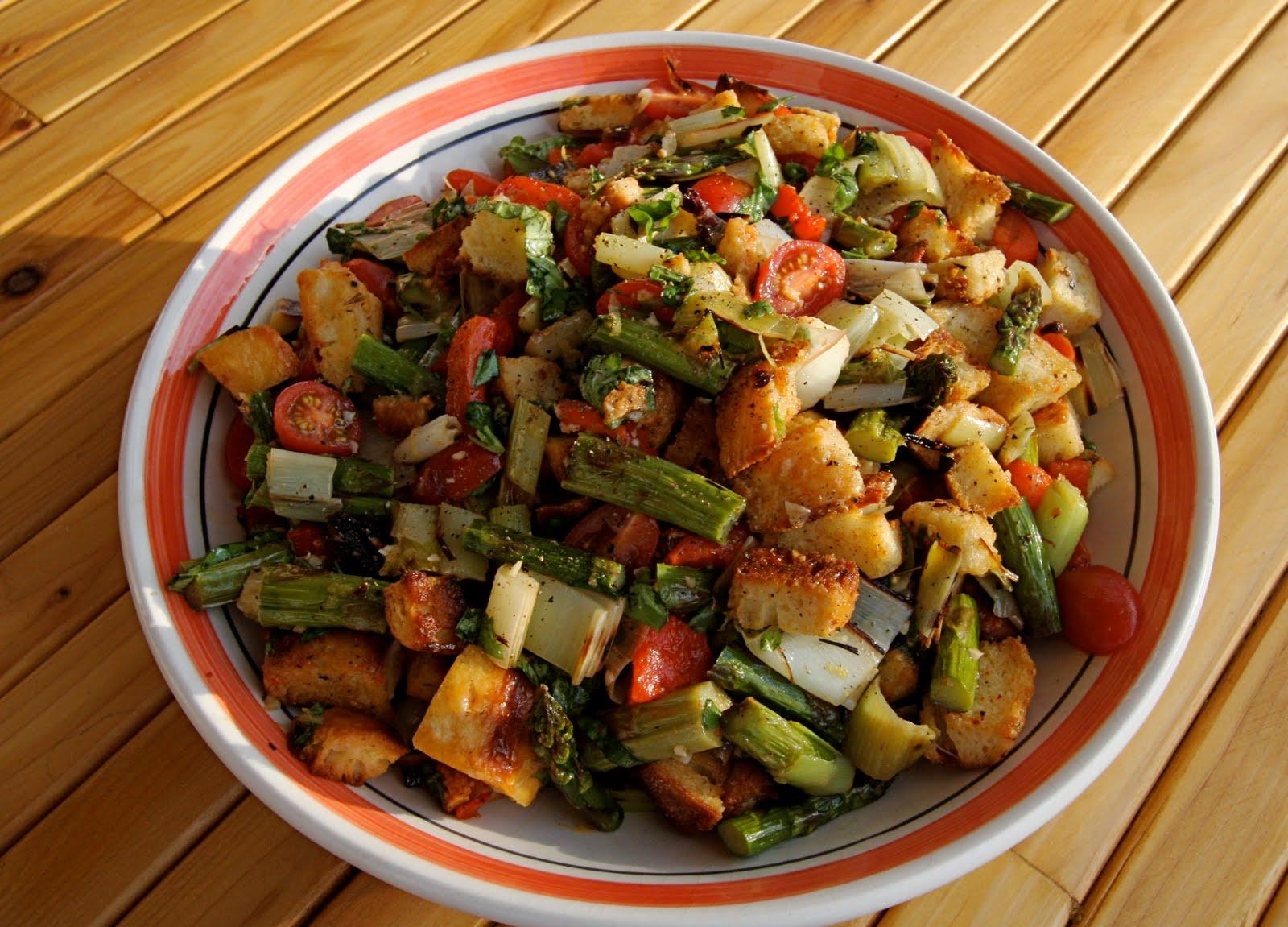 Grilled Vegetable Panzanella Recipe — Dishmaps