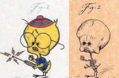 Conoce el esqueleto de los Dibujos Animados