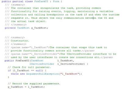 SSIS task UI form