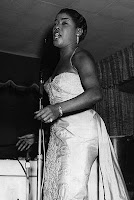 Photo of Sarah Vaughan singing