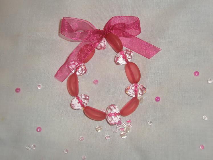 Pulseira cor-de-rosa