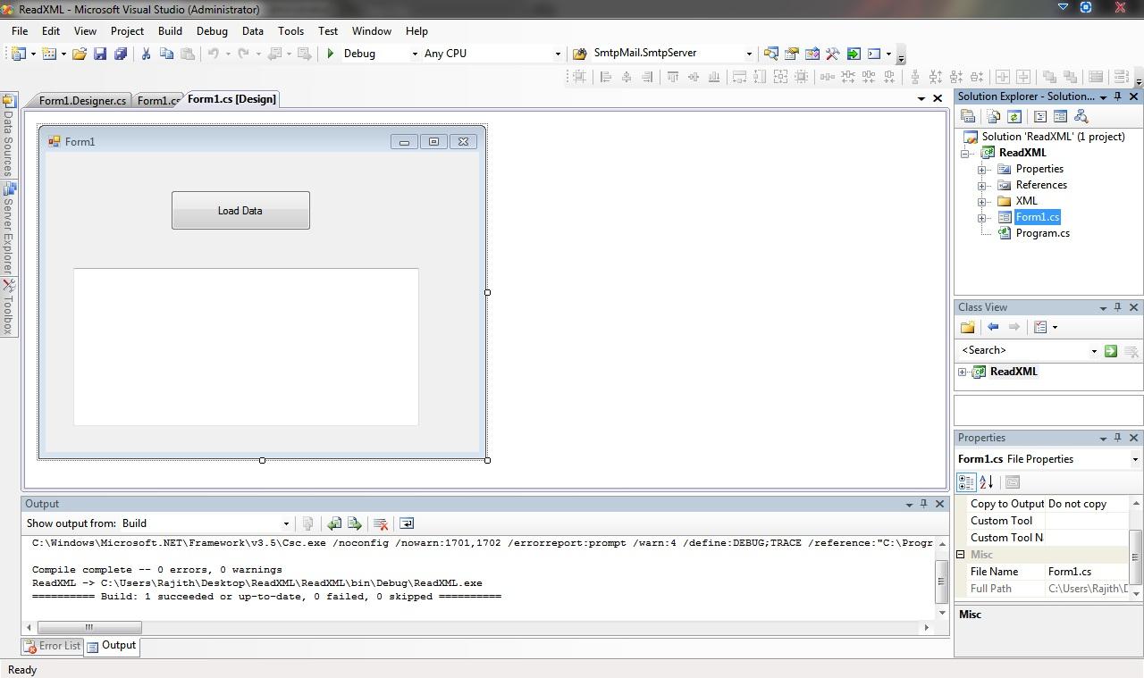 how to read xml file using xmlreader in c#
