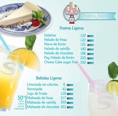 I sanborns postres y bebidas deliciosas ligeras y for Menu de sanborns