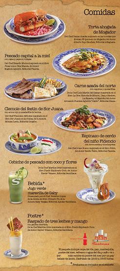 I sanborns sexto festival gourmet cocina de autor for Menu de sanborns