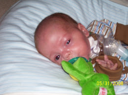 Braden & his wubbanub pacifier