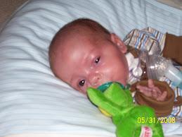 Braden & his wubbanub pacifier