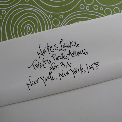 Custom Red Rubber Return Address Stamp from lettergirl on Etsy with Calligraphy for Wedding Invitations