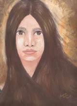 """Melanie"" (1969, 9x12, oil)"