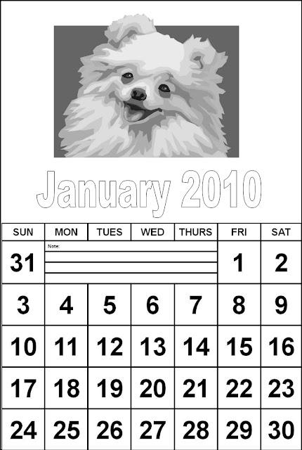 calendar january 2010. January Calendar 2010