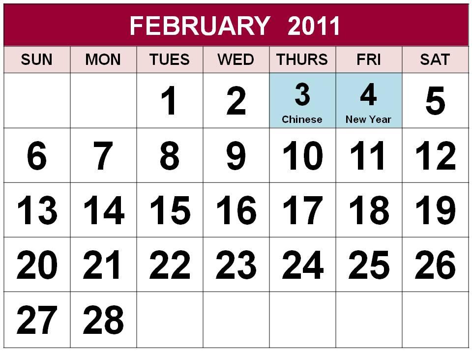singapore 2011 calendar with public holidays. Singapore February 2011 Calendar with Holidays (PH)