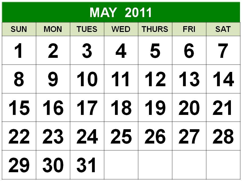may 2011 printable calendar. CALENDAR 2011 MAY PRINTABLE