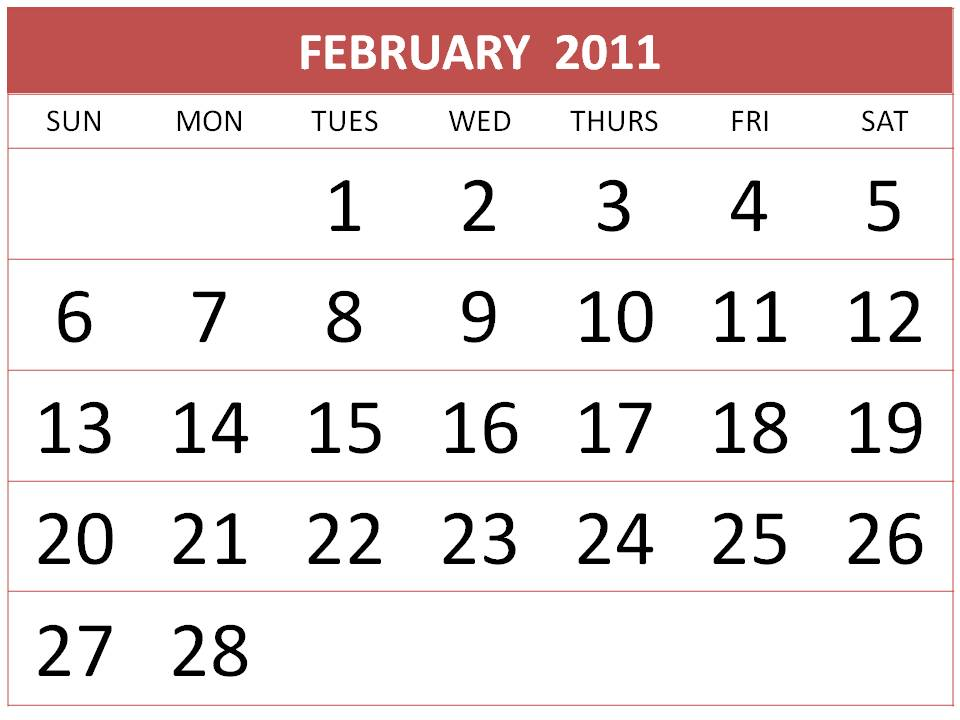 On this website you can find : Free February 2011 Calendar Printable / 2011