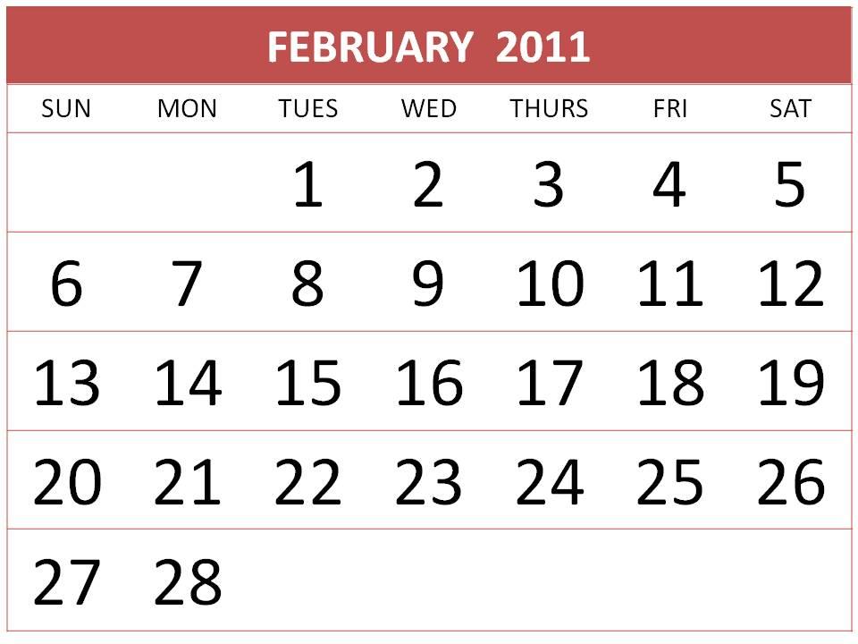 2011 calendar printable free. Printable Calendar 2011