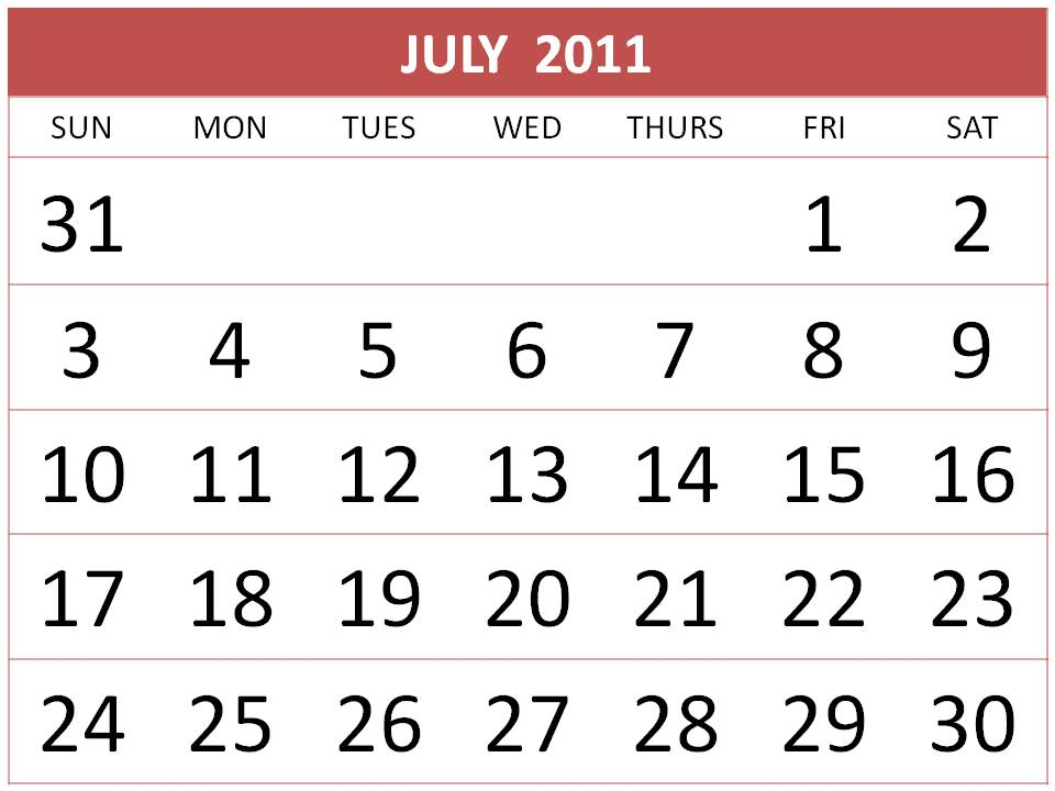 On this website you can find : Free July 2011 Calendar Printable / 2011 July