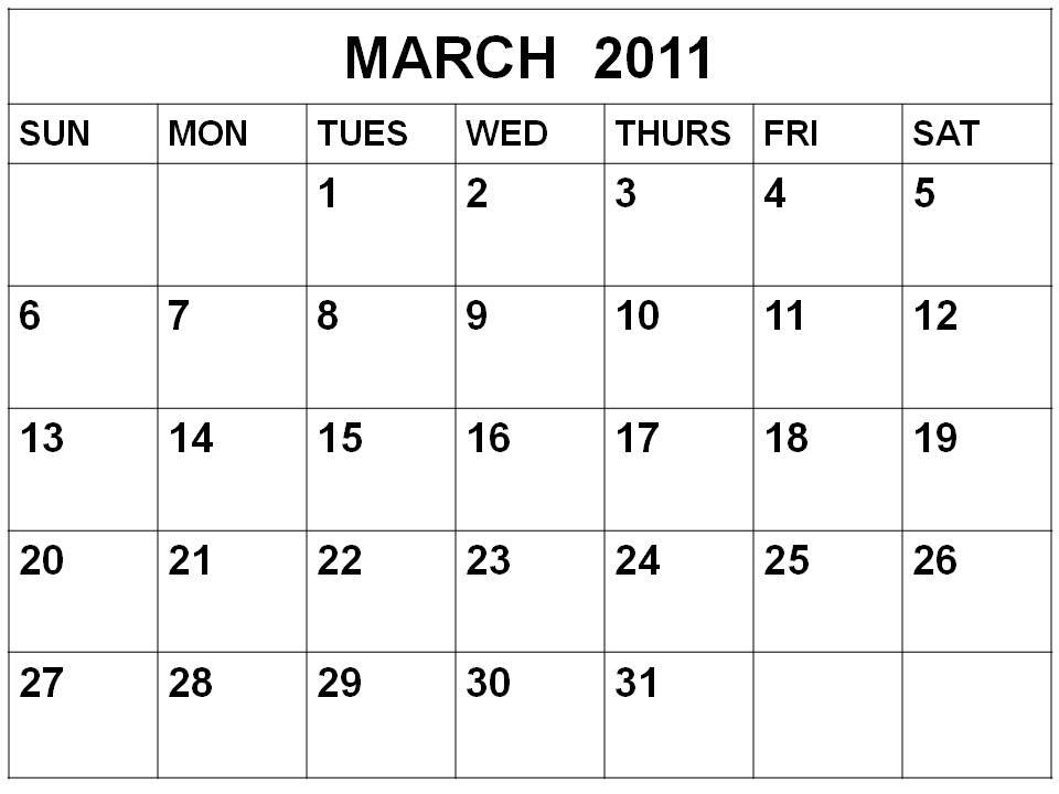 Blank February 2010 Calendar calendar february and march