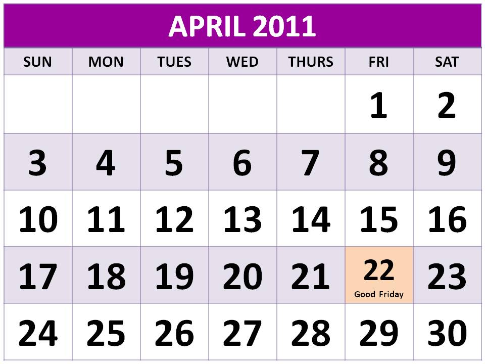 calendar 2012 april. April 2012 Calendar black and