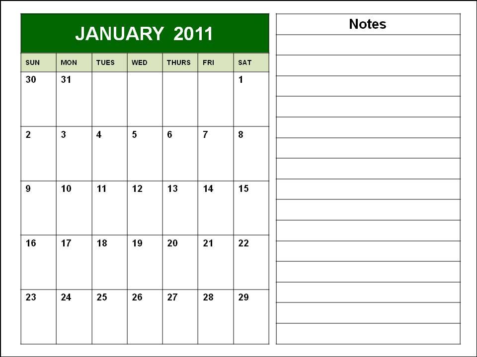 january calendars 2011. 2011 calendar printable