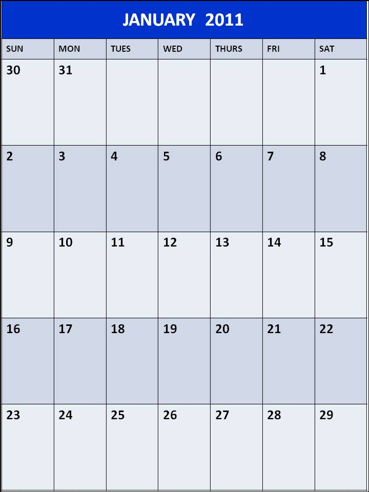 general blue printable calendar september 2010; Printable Calendar January