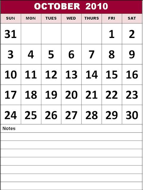 2010 october calendar. with 2010+october+calendar