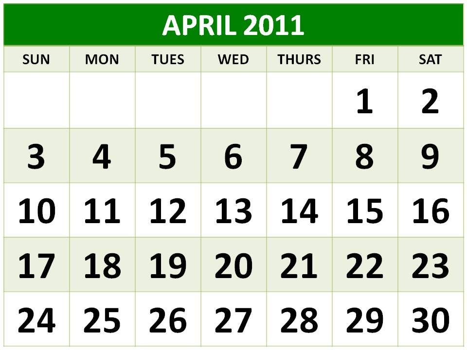 april easter 2011 calendar. easter april 2011 calendar