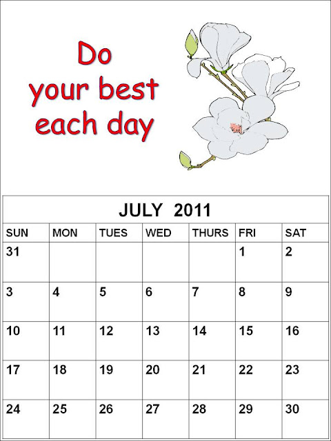 blank calendar 2011 august. Blank Calendar 2011 July or